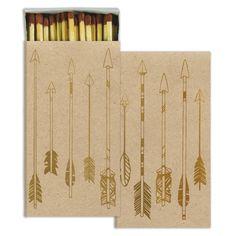 Matches - Arrows - Gold Foil