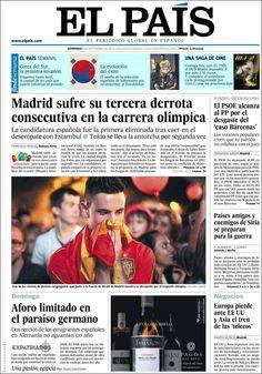 Los Titulares y Portadas de Noticias Destacadas Españolas del 8 de Septiembre de 2013 del Diario El País ¿Que le pareció esta Portada de este Diario Español?