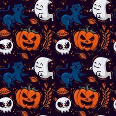 Halloween Symbols, Halloween Patterns, Halloween Projects, Halloween Design, Spooky Halloween, Halloween Pumpkins, Paper Background, Background Patterns, October Wallpaper