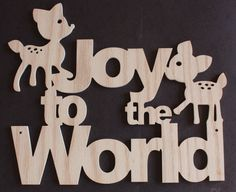 Joy to the World Christmas Decoration Sign by Venustudio on Etsy