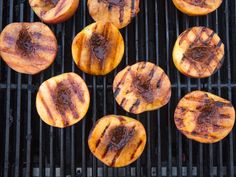 Grilled Peaches with Vanilla and Lemon Mascarpone recipe from Smollett Eats via Food Network