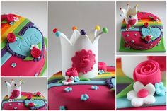 Rainbow and a crown for little Kiki. The cake was inspired by the Belgium/Dutch K3 ladies, who are singing songs for kids.