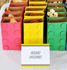 lego party snack idea