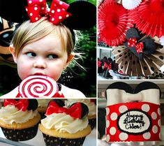 Minnie Mouse  This party is all about polka dots and bows, bows, and more bows!