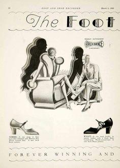 1929 Ads Arch Brace Shoe Foot Fashion Art Deco Women Stanley Duttenhofer Ohio