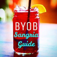 Deliciously refreshing BYOB sangria guide for Hoboken including several wine recommendations!