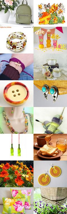 Spring summer colors by Inita on Etsy--Pinned+with+TreasuryPin.com