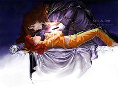 Sailor Moon / Black crystal / Nephrite and Naru. by jen-and-kris.deviantart.com on @deviantART