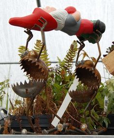 Haha, awesome! This is the kind of twisted crap I'd put in my garden for fun :P