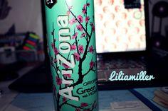 """Ich hasse Arizona Tea """"Green Tea with honey"""" . Das Design ist aber schön ♥"""