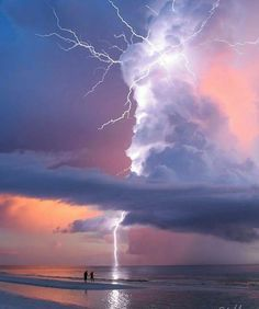 Lightning strike in Marco Island, Florida. Photography by Nature Pictures, Cool Pictures, Cool Photos, Amazing Photos, All Nature, Amazing Nature, Wild Weather, Thunder And Lightning, Lightning Storms