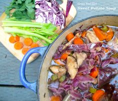 Sweet Potato Chicken Soup from Grass Fed Girl