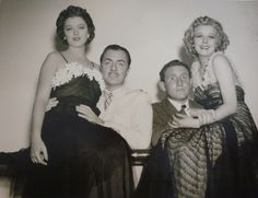 Myrna Loy, William Powell, Spencer Tracy and Jean Harlow