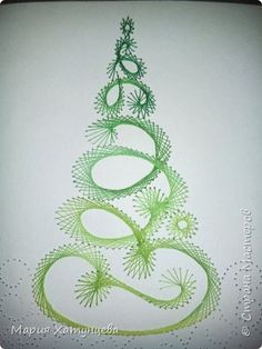 The Latest Trend in Embroidery – Embroidery on Paper - Embroidery Patterns Christmas Embroidery Patterns, Embroidery Cards, Hand Embroidery, String Art Templates, String Art Patterns, Christmas Paper, Christmas Crafts, Thread Art, Card Patterns