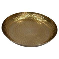 1 Pc Serving Tray Threshold Golden Aluminum