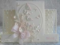 Paper Crafts Card making Fancy Fold Cards, Folded Cards, Wedding Anniversary Cards, Wedding Cards, Side Step Card, Stepper Cards, Poppy Cards, Tattered Lace Cards, Spellbinders Cards
