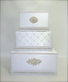 Wedding Card Box Classic White  or Ivory Wedding by WrapsodyandInk