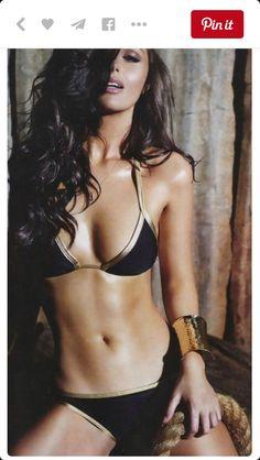 Bikini  sexy negro Dorado  Espectacular!!!