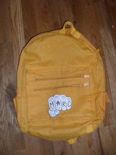 """Just added to our """"Recently Sold"""" Gallery: Limited Edition MARC by Marc Jacobs golden yellow backpack. Check out our gallery of other great items here! http://www.5ceeclothing.org/recently-sold-gallery.html"""