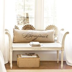 (Antoinette Bench traditional bedroom benches) --will add storage drawers underneath too