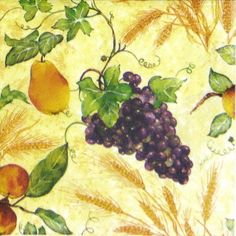 4x Single Table Party Paper Napkins for Decoupage Decopatch Craft Mix of Fruits