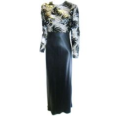 """James Galanos """" The Starry Night"""" Couture Gown"""