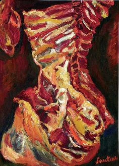 Image: Chaim Soutine (1893-1943), Le Bœuf, circa 1923. Oil on canvas achieved a record price for the artist at auction