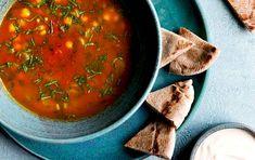 Harira-suppe med kikærter og tomat