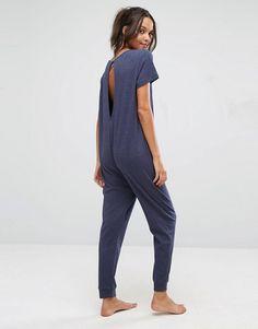 ASOS | ASOS LOUNGE - Combinaison côtelée à manches courtes en jersey