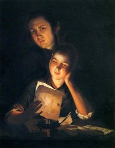 Joseph Wright of Derby (1734 – 1797, English)  Example of Chiaroscuro lighting