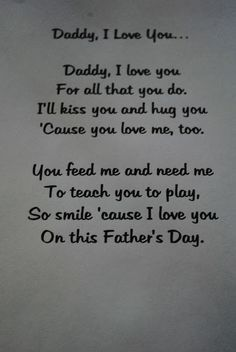 Father's Day Poem from Arianna to my husband. She said it was perfect for her daddy :) That's my girl.