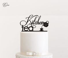 Kitchen tea cake topper by Oxee personalized cake toppers by Oxee