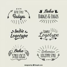 logotypes boho Manuscrit