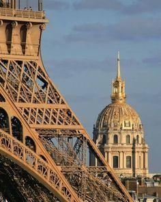Tour Eiffel et Dôme des Invalides.