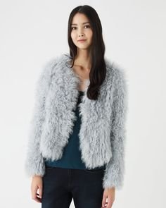 Knitted Sheepskin Jacket  OMG!! love it in all the colours available