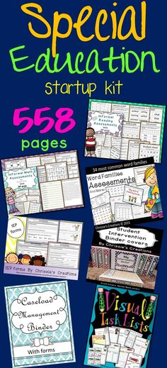 Special Education assessments, Special education binder, special education IEP resources and Intervention resources. Brand new! Just listed on tpt.  Over 700 pages.  This is so great!  Every special educator should have this at their fingertips.