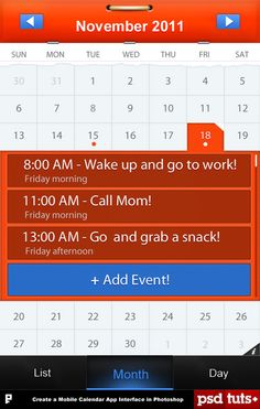 calendar-ui-7- like how month is selected