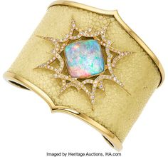 Estate Jewelry:Bracelets, Quartz, Opal, Diamond, Shagreen, Gold Bracelet, Stephen Webster ....