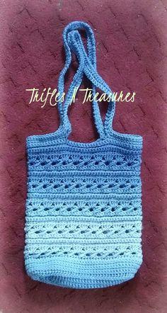 Ocean Serenity - FREE crochet bag pattern at TriflesNTreasures. #crochetbags