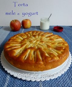 Torta di mele e yogurt, ricetta light