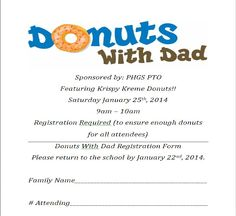 Donuts With Dad School Events, Grandparent Gifts, Grandparents, Donuts, Dads, Grandmothers