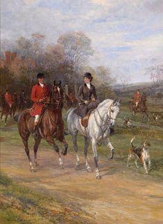 Foxhunting scene by Heywood Hardy