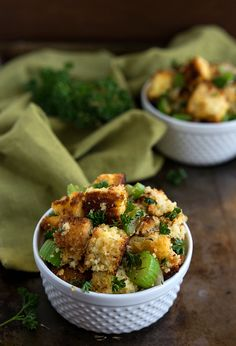 A deliciously simple and traditional cornbread dressing filled with flavor! Perfect for Thanksgiving dinner, PLUS you can make the actual cornbread that goes in the stuffing ahead of time! Okay who's excited for Thanksgiving?! I'll put both hands up. I mean I am a food blogger after-all. I think it would be some kind of...