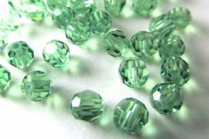 36 pieces Swarovski Element 5000 faceted 4mm Round Ball Beads Crystal Turquoise