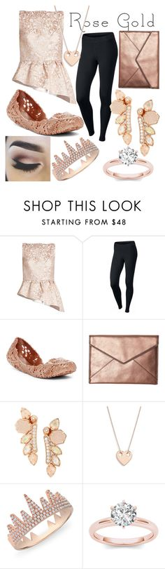 """""""Rose Gold"""" by kaitlyn-ashby101 ❤ liked on Polyvore featuring Osman, NIKE, Melissa, Rebecca Minkoff, Kendra Scott, Ginette NY and Anne Sisteron"""