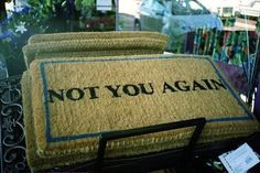 Doormat that delivers the message!