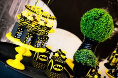 Favors and cupcakes from a Batman Birthday Party on Kara's Party Ideas | KarasPartyIdeas.com (15)