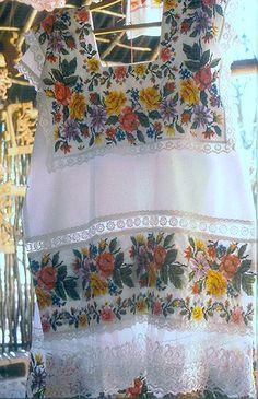 Fancy Maya huipil Yucatan | by Teyacapan. a hand embroidered terno de lujo (gala huipil) awaits a buyer at Sayil, Yucatan