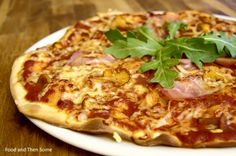 Pizza with Chanterelles, Prosciutto & Rocket