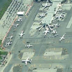 La guardia airport. From above.